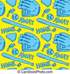 cartoon baseball stuff pattern