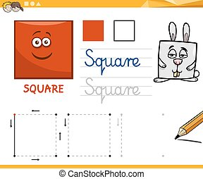 cartoon basic geometric shapes