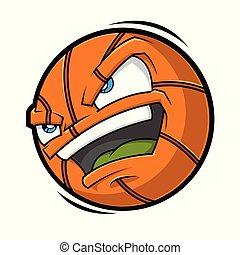 Cartoon Basketball angry face