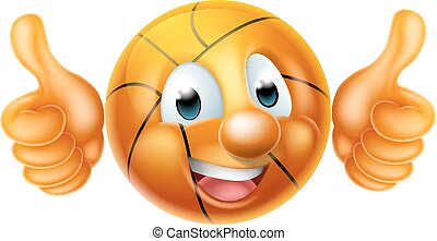 Cartoon Basketball Ball Man Character
