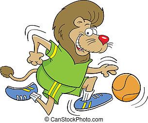 Cartoon Basketball Lion