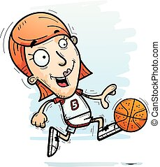 Cartoon Basketball Player Running