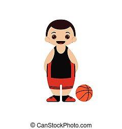 Cartoon basketball player vector illustration