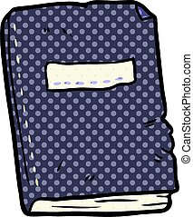 cartoon battered old notebook