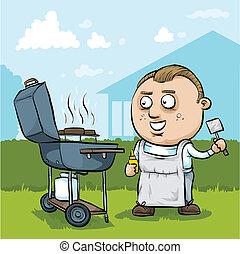 Cartoon BBQ Man