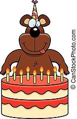 Cartoon Bear Birthday