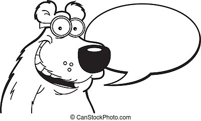 Cartoon Bear Caption (Black and Whi