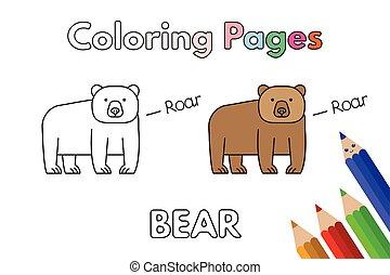 Cartoon Bear Coloring Book