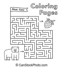 Cartoon Bear Maze Game