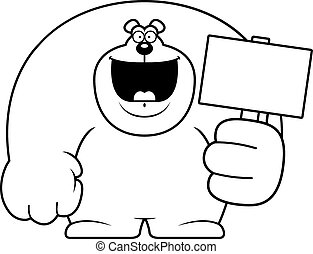 Cartoon Bear Sign