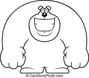 Cartoon Bear Smiling