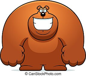 Cartoon Bear Smiling
