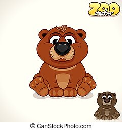 Cartoon Bear. Vector Character