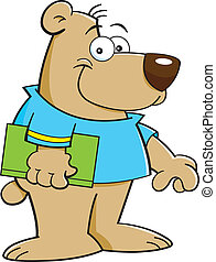 Cartoon Bear with Book