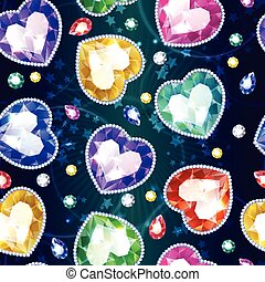 Cartoon Beautiful Jewelry Seamless Pattern