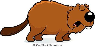 Cartoon Beaver Howling