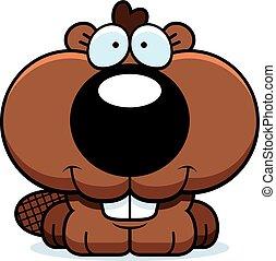 Cartoon Beaver Smiling