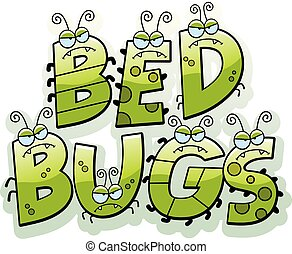Cartoon Bed Bug Text