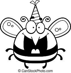 Cartoon Bee Birthday Party - A cartoon illustration of a bee...