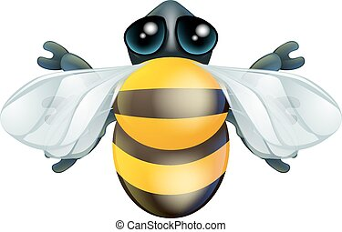 Cartoon bee bug character