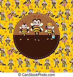 cartoon bee card