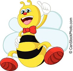 Cartoon bee giving thumb up