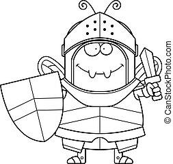 Cartoon Bee Knight Sword
