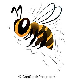 cartoon bee on a white background