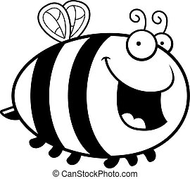 Cartoon Bee Smiling