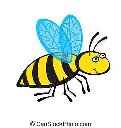 Cartoon bee, vector illustration