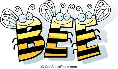 Cartoon Bee Word