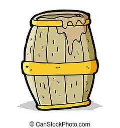 cartoon beer barrel