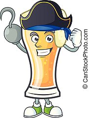 Cartoon beer glass with the pirate character