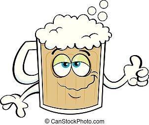 Cartoon beer mug.