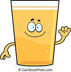 Cartoon Beer Waving