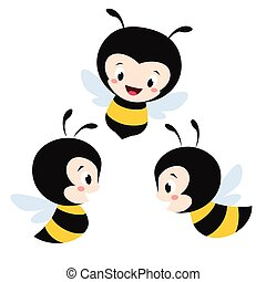 Cartoon Bees