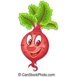 Cartoon Beet Vegetable