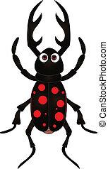 cartoon beetle on white background