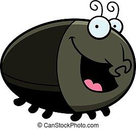 Cartoon Beetle Smiling