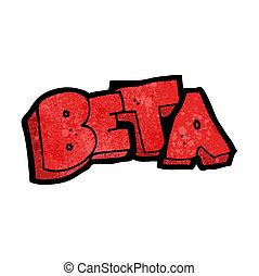 cartoon beta test symbol