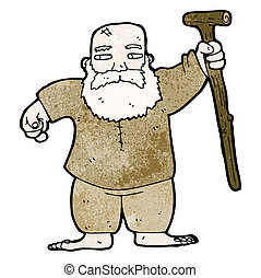 cartoon biblical style father man