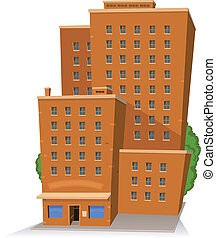 Cartoon Big Building