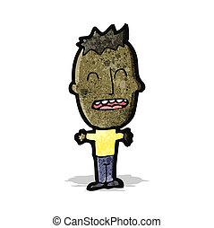 cartoon big head boy