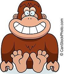 Cartoon Bigfoot Sitting