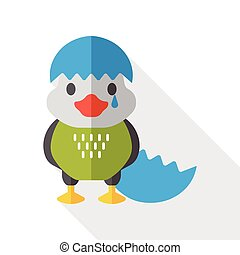 cartoon bird flat icon