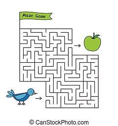 Cartoon Bird Maze Game