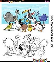 cartoon birds for coloring