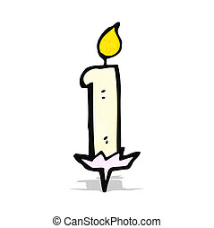 cartoon birthday cake candle