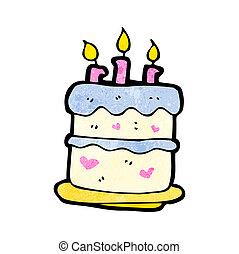 cartoon birthday cake