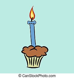 Cartoon birthday candle